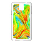 Happy Multicolor Painting Samsung Galaxy Note 3 N9005 Case (White) Front
