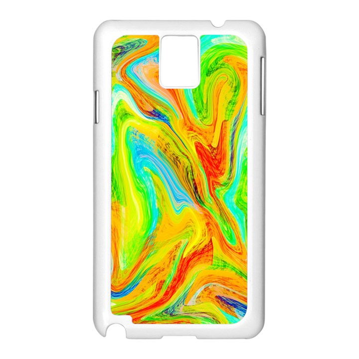 Happy Multicolor Painting Samsung Galaxy Note 3 N9005 Case (White)