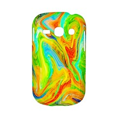Happy Multicolor Painting Samsung Galaxy S6810 Hardshell Case