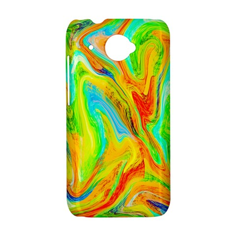 Happy Multicolor Painting HTC Desire 601 Hardshell Case