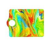 Happy Multicolor Painting Kindle Fire HD (2013) Flip 360 Case Front