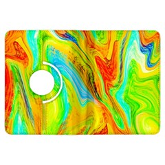 Happy Multicolor Painting Kindle Fire HDX Flip 360 Case