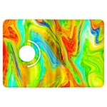 Happy Multicolor Painting Kindle Fire HDX Flip 360 Case Front
