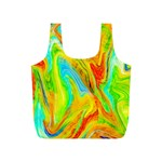 Happy Multicolor Painting Full Print Recycle Bags (S)  Back