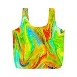 Happy Multicolor Painting Full Print Recycle Bags (M)  Back
