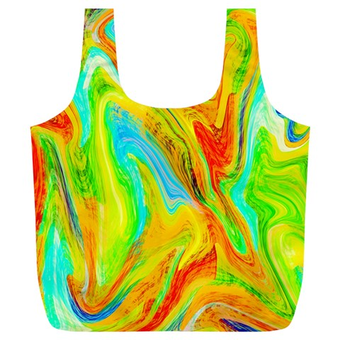 Happy Multicolor Painting Full Print Recycle Bags (L)