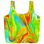 Happy Multicolor Painting Full Print Recycle Bags (L)  Back