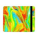 Happy Multicolor Painting Samsung Galaxy Tab Pro 8.4  Flip Case Front