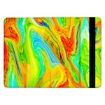 Happy Multicolor Painting Samsung Galaxy Tab Pro 12.2  Flip Case Front