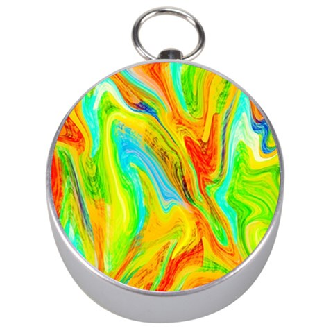 Happy Multicolor Painting Silver Compasses