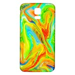 Happy Multicolor Painting Samsung Galaxy S5 Back Case (White) Front