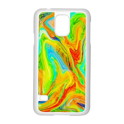 Happy Multicolor Painting Samsung Galaxy S5 Case (White)