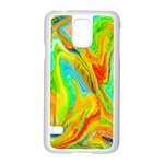 Happy Multicolor Painting Samsung Galaxy S5 Case (White) Front