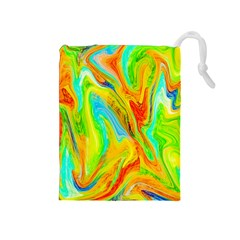 Happy Multicolor Painting Drawstring Pouches (Medium)