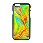 Happy Multicolor Painting Apple iPhone 6/6S Black Enamel Case Front