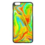 Happy Multicolor Painting Apple iPhone 6 Plus/6S Plus Black Enamel Case Front