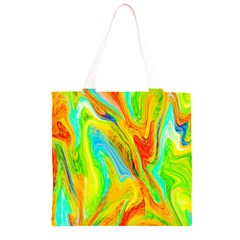 Happy Multicolor Painting Grocery Light Tote Bag