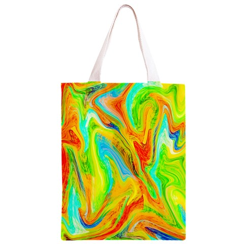 Happy Multicolor Painting Classic Light Tote Bag