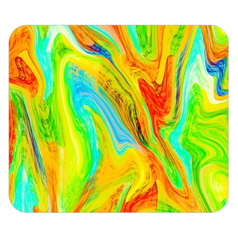 Happy Multicolor Painting Double Sided Flano Blanket (Small)