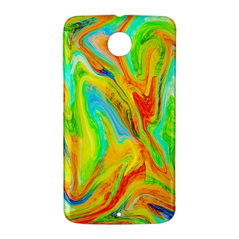 Happy Multicolor Painting Nexus 6 Case (White)