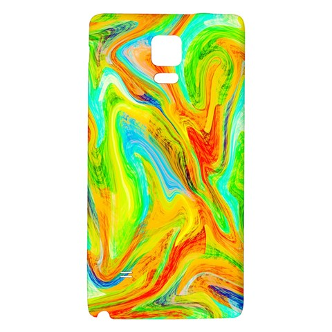 Happy Multicolor Painting Galaxy Note 4 Back Case