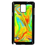 Happy Multicolor Painting Samsung Galaxy Note 4 Case (Black) Front