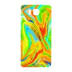 Happy Multicolor Painting Samsung Galaxy Alpha Hardshell Back Case Front
