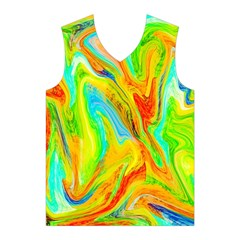 Happy Multicolor Painting Men s Basketball Tank Top