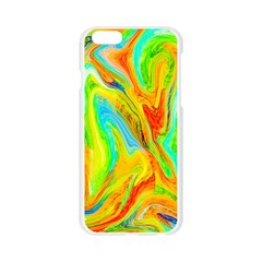 Happy Multicolor Painting Apple Seamless iPhone 6/6S Case (Transparent)