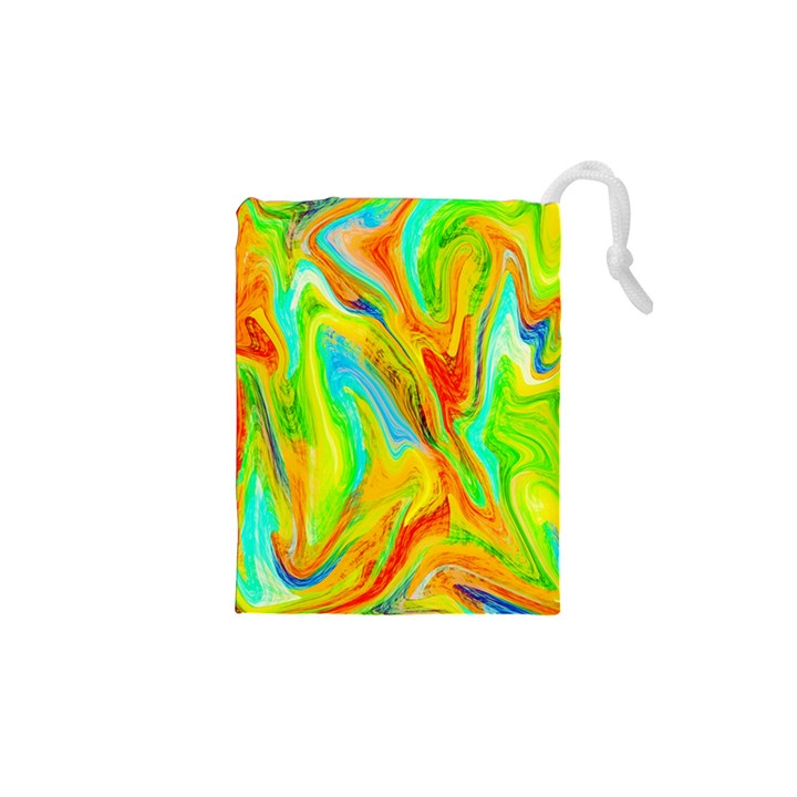 Happy Multicolor Painting Drawstring Pouches (XS)