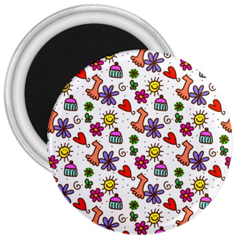 Doodle Pattern 3  Magnets