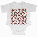 Doodle Pattern Infant Creepers Front