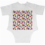 Doodle Pattern Infant Creepers Back