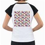 Doodle Pattern Women s Cap Sleeve T Back