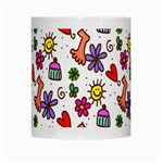 Doodle Pattern White Mugs Center