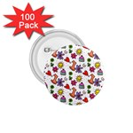 Doodle Pattern 1.75  Buttons (100 pack)  Front