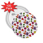 Doodle Pattern 2.25  Buttons (100 pack)  Front