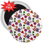 Doodle Pattern 3  Magnets (10 pack)  Front