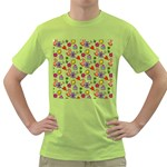 Doodle Pattern Green T-Shirt Front