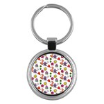 Doodle Pattern Key Chains (Round)  Front