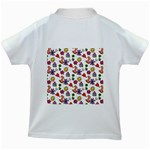 Doodle Pattern Kids White T-Shirts Back