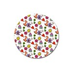 Doodle Pattern Magnet 3  (Round) Front