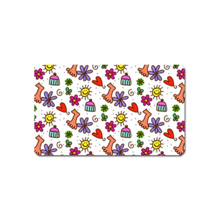 Doodle Pattern Magnet (Name Card)