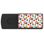 Doodle Pattern USB Flash Drive Rectangular (1 GB)  Front
