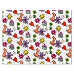 Doodle Pattern Rectangular Jigsaw Puzzl Front