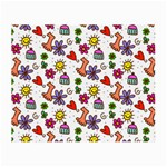 Doodle Pattern Small Glasses Cloth Front