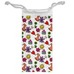 Doodle Pattern Jewelry Bags Back