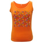 Doodle Pattern Women s Dark Tank Top Front