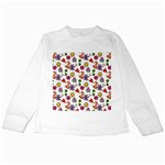 Doodle Pattern Kids Long Sleeve T-Shirts Front