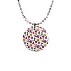 Doodle Pattern Button Necklaces